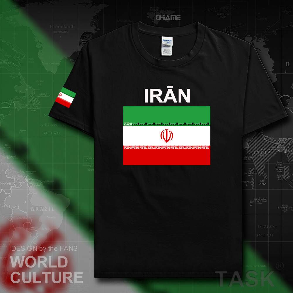 Iran Islamic men t shirts 2017 jerseys nations team tshirt 100% cotton t-shirt meeting fitness brand clothing tees flag IR tops