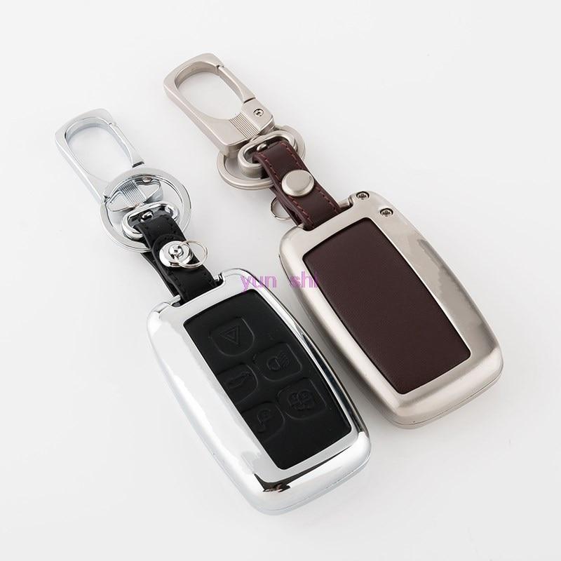High Grade Zinc Alloy Leather Car Key Case Bag For Land