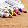 Baseball keychain key ring baseball bat baseball pole model key chain key holder creative portachiavi chaveiro llaveros hombre