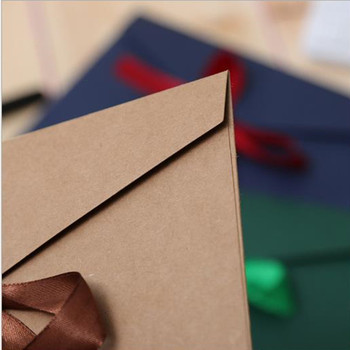(220*110mm)30pcs/lot Color western-style envelopes A5 blank bills receive bag Kraft envelope paper Enveloppe Wedding invitations 1