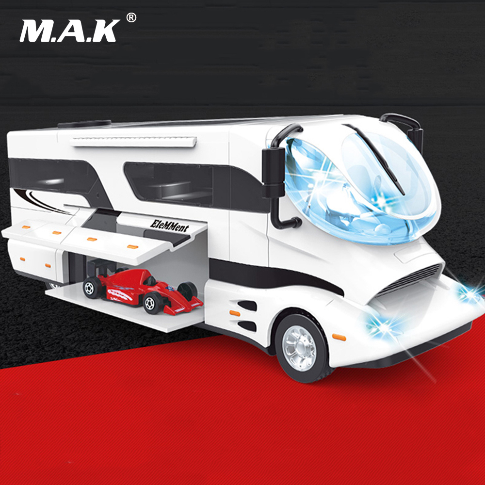 все цены на Kids Toys Pull Back Car 1:32 Scale 22cm Alloy Model Luxury RV Car Austria Elemment Palazzo with Light&Sound 4 Colors Gift