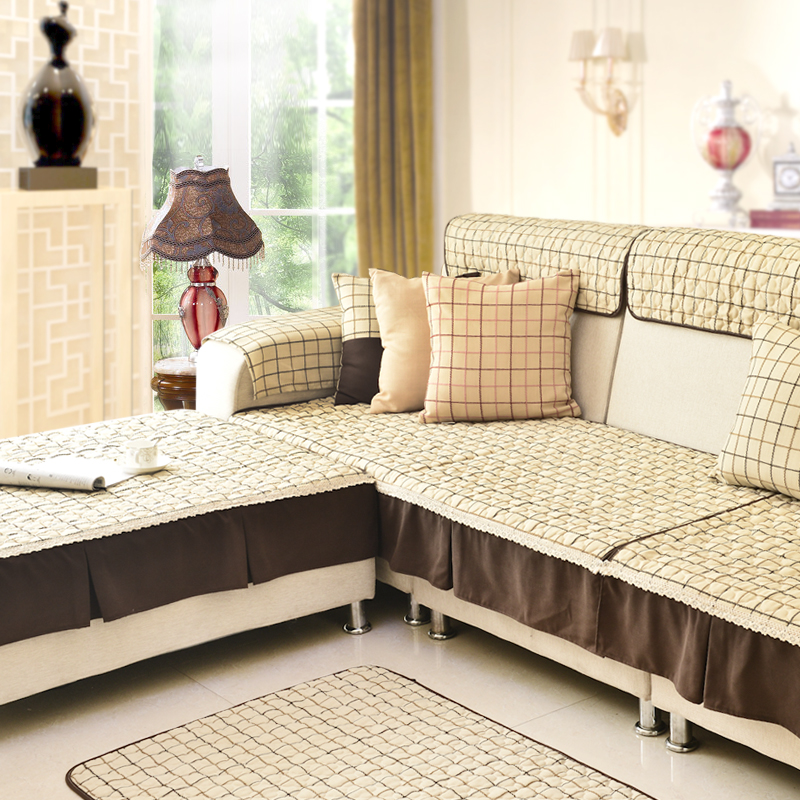 Themis Plaid Sofa Cover Linen Cloth Towel Floor Mat Cushion Spread Baby Climbing Blanket In From Home Garden On