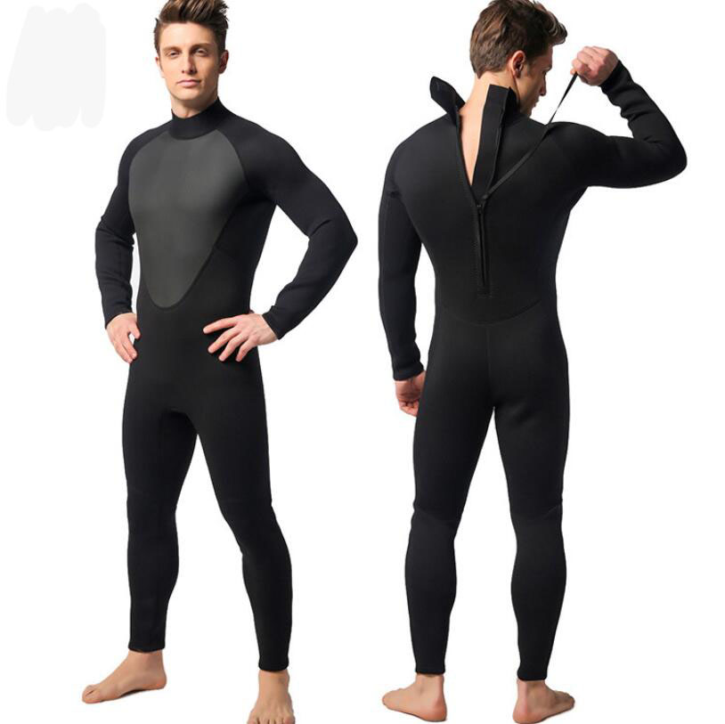 цена на Free Shipping 3mm Neoprene Scuba Dive Wetsuit For Men Spearfishing Wet Suit Surf Diving Equipment Split Suits Spear Fishing