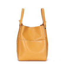 BRIGGS brand handbag women split leather bag female bucket shoulder bags messenger high quality leather tote bag crossbody lady цена 2017