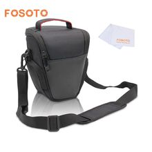 fosoto Fashion Triangle Digital Camera DSLR Shoulder Bag photo Case Bags For Canon EOS 1300D 6D 70D 760D 750D 80D 700D 600D 650D