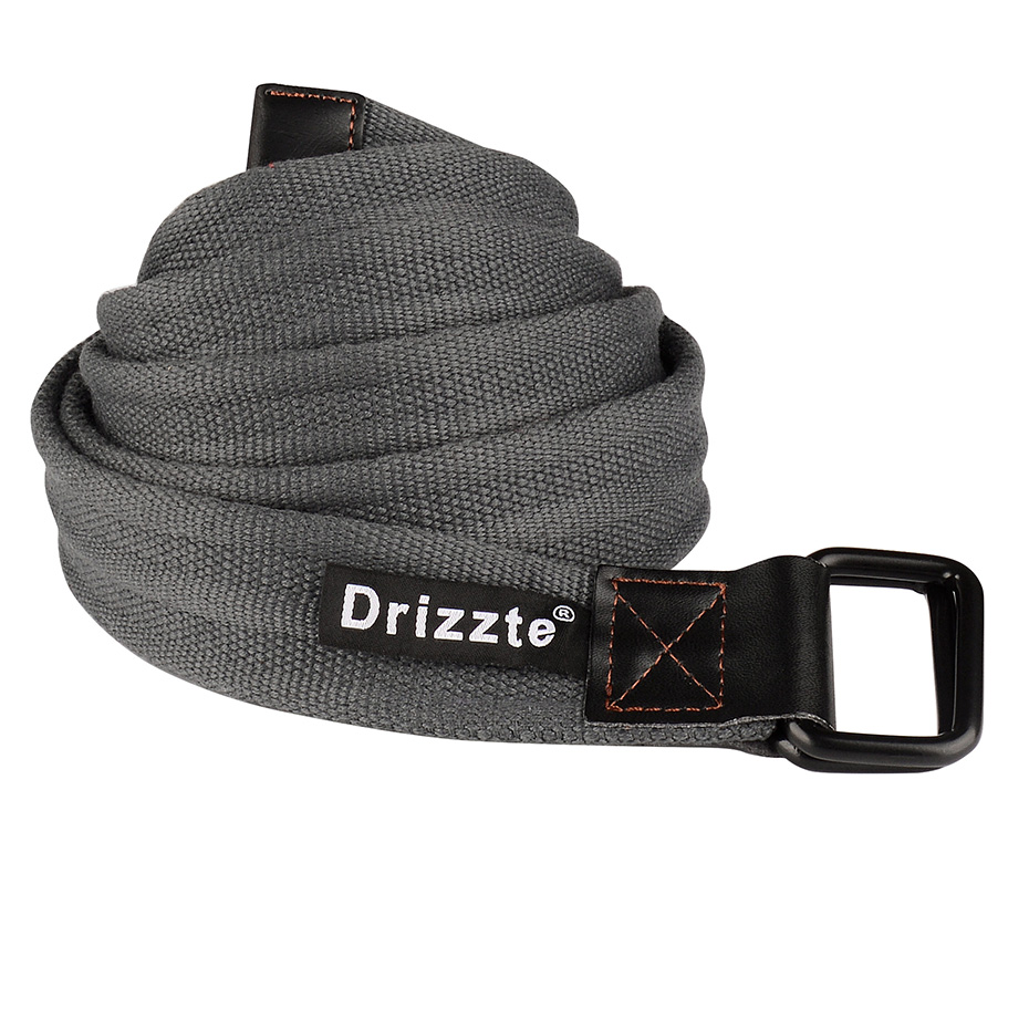 Drizzte Mens Belt Big Tall Plus Size 100 180cm 43 71inch Double D Loop Ring  Canvas Fabric Cloth Belt Jeans Belt Grey-in Men s Belts from Apparel  Accessories ... fd0e81508c8