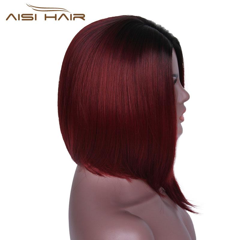 Είμαι μια περούκα Ombre κόκκινο Bob - Συνθετικά μαλλιά - Φωτογραφία 5