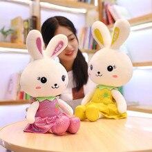 Hot New  Kawaii Fruit Rabbit Plush Toys Stuffed Soft Lovely Animal Pillow Cute Valentines Gift For Girls Kids Children Birthday