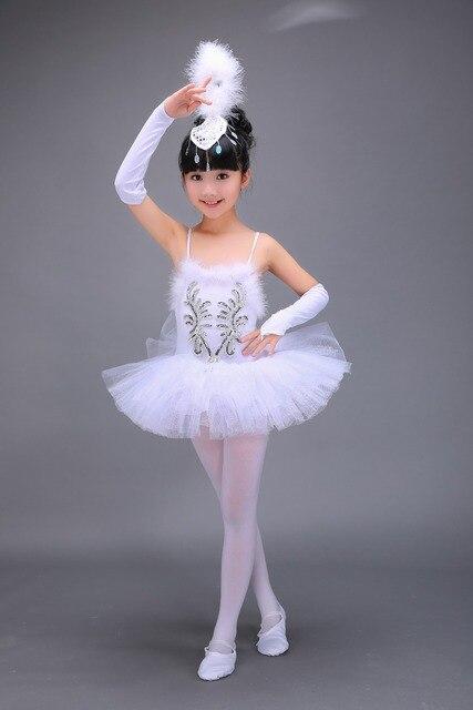 c165c9b08bba 2 16Y Child White Swan Lake Ballet Costume Girl Dance Dresses ...