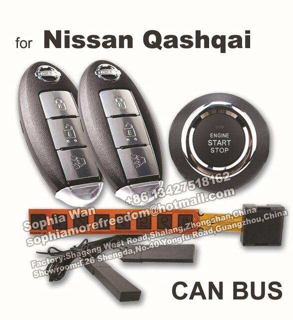 pour nissan qashqai pnp pke peut bus alarme de voiture bouton poussoir de d marrage sans cl. Black Bedroom Furniture Sets. Home Design Ideas