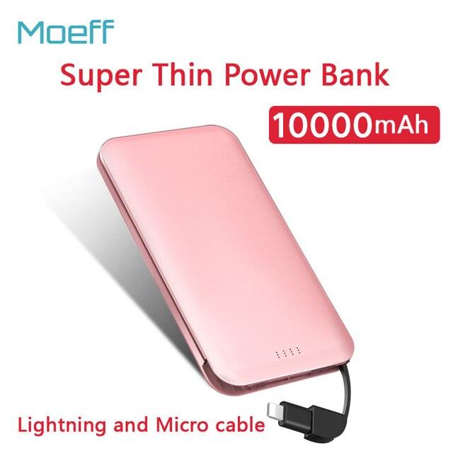 5 v/1a lipolymer bateria banco do poder 10000 mah dual usb banco de bateria externa carregador portátil micro usb de carregamento rápido para iphone