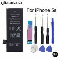 Batería de teléfono Original YILOZOMANA batería de alta capacidad de 1560 mAh para iPhone 5S baterías de repuesto herramientas gratuitas paquete de venta al por menor