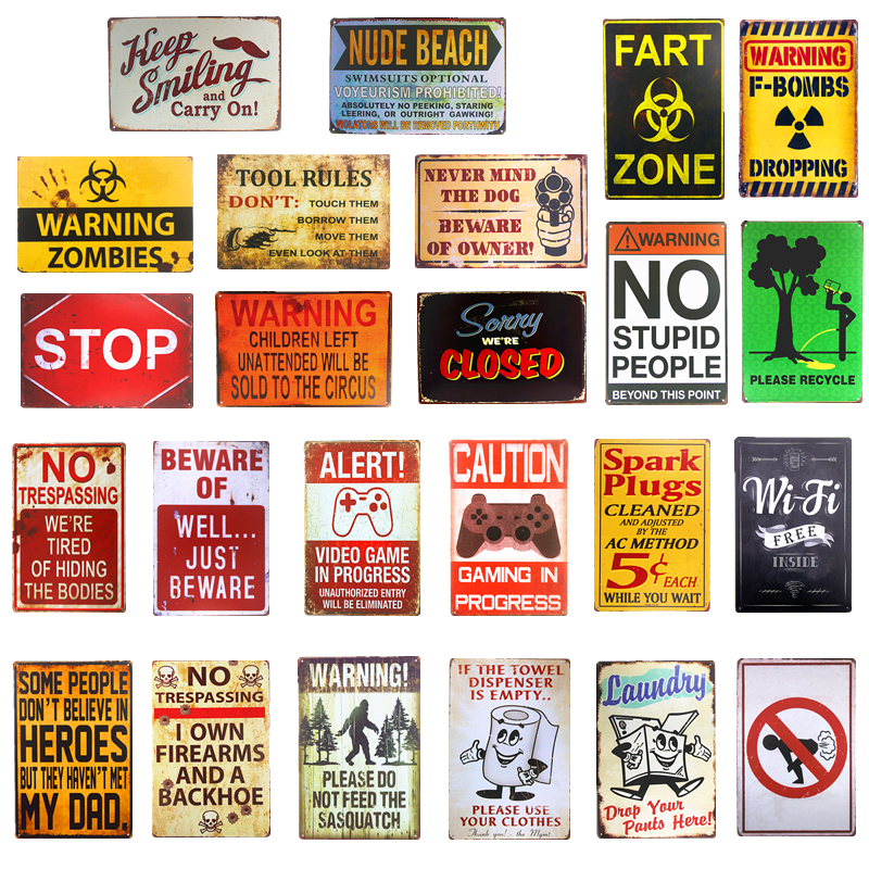 Sasquatch No Fart Warning Poster Alat Peraturan Metal Tin tanda tanda Poster Bar Pub Club Cafe Man Gua Home Wall Decor