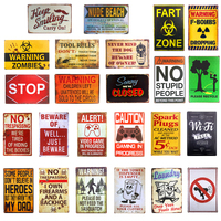 Sasquatch No Fart Warning Poster Tool Rules Metal Tin signs Poster Bar Pub Club Cafe Man Cave Home Wall Decor