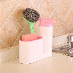 Pranie w kuchni pojemnik na gąbkę półka dozownik detergentu zlew szczotka do czyszczenia regał magazynowy łazienka butelka z płynem do dezynfekcji rąk