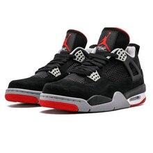 new product a7580 9bf8d Jordan Retro 4 Hommes Chaussures de Basket-Bred Blanc Ciment oreo  Célibataires Jour De Tatouage