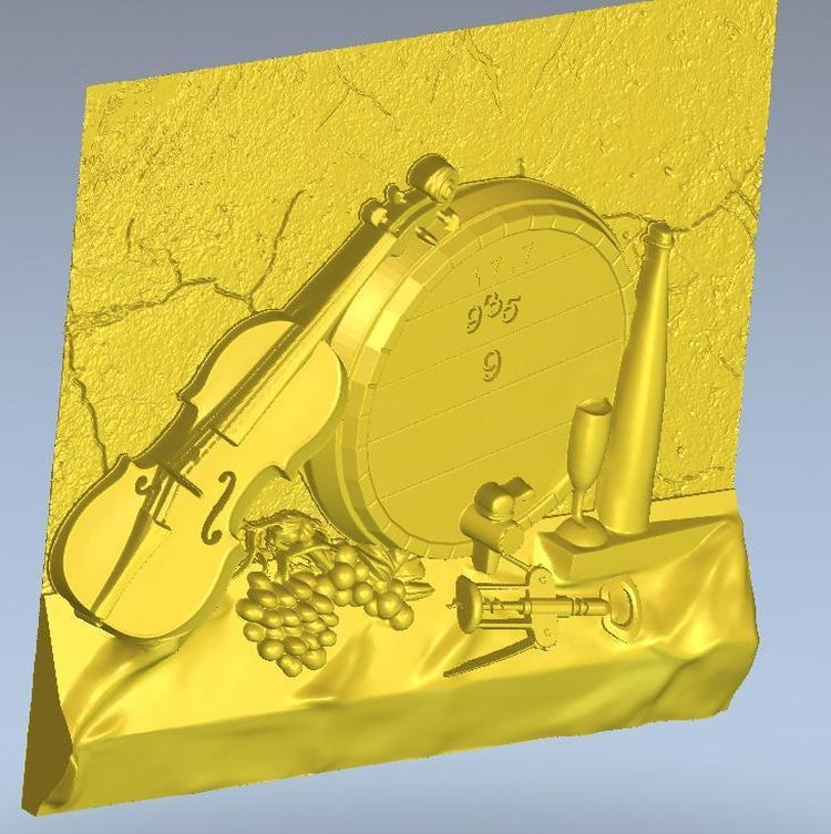 3d model relief  for cnc in STL file format Panno violin3d model relief  for cnc in STL file format Panno violin