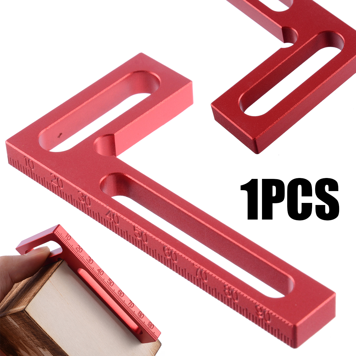 1pc 90 Degree Clamping Square Aluminium Alloy L-Square Positioning Clamps Woodworking Carpenter Measuring Tools 100*50*8mm