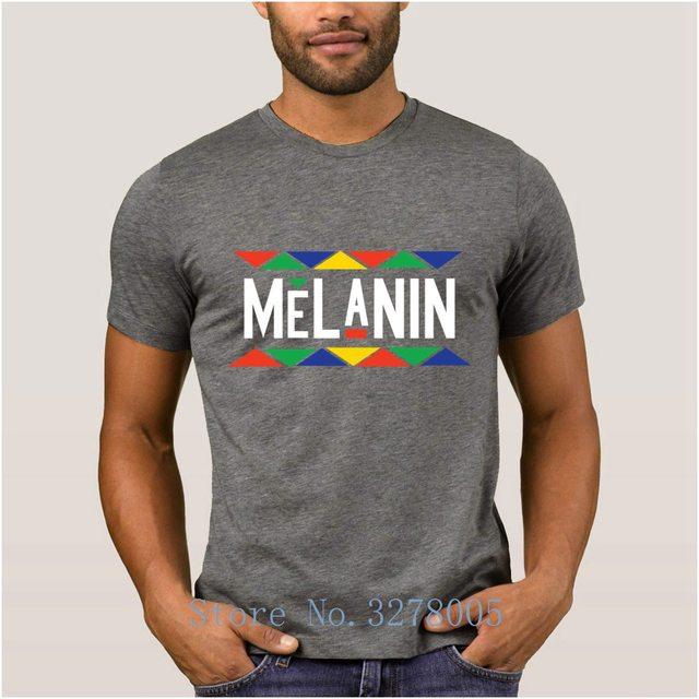 Make Own Fashion Newest Mens T Shirt Melanin Unique Men's T-Shirt Spring Autumn 100% Cotton Clothing Tshirt Mens Top Quality