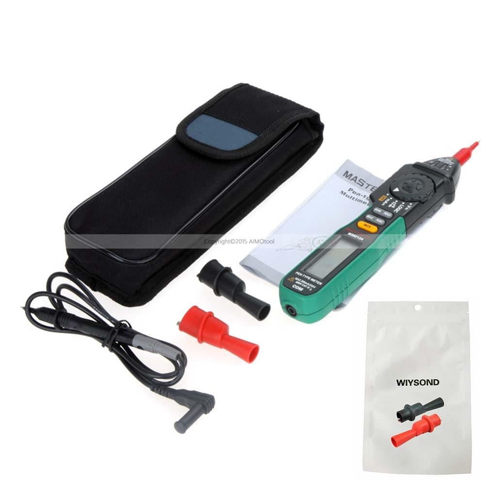 M045 WIYSOND clip Mastech Pen type MS8212A DC AC Voltage Current Tester Diode Continuity Logic Non contact Digital Multimeter