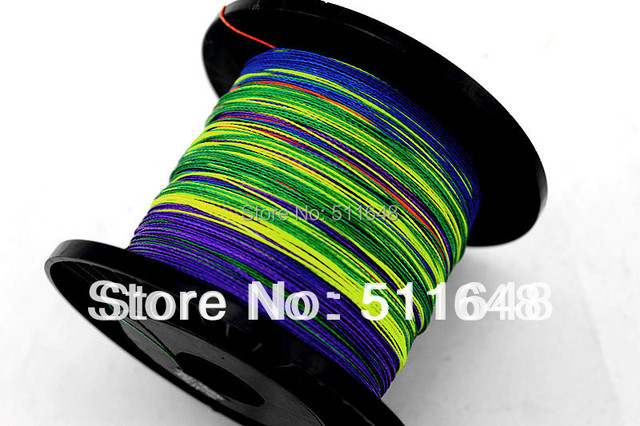 Free Shipping 2013 High Power Best Quality 300M PE Multicolor Braid Fishing Lines 10-80LB