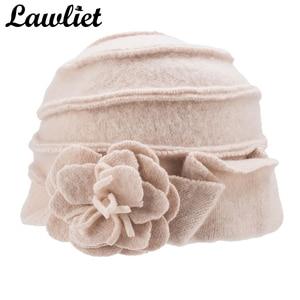 Image 5 - Elegancki 1920s styl kapelusze damskie zimowe Beret czapki Beanie dla kobiet wiadro Cloche Cap 100% gotowane wełny ciepłe kapelusze A376