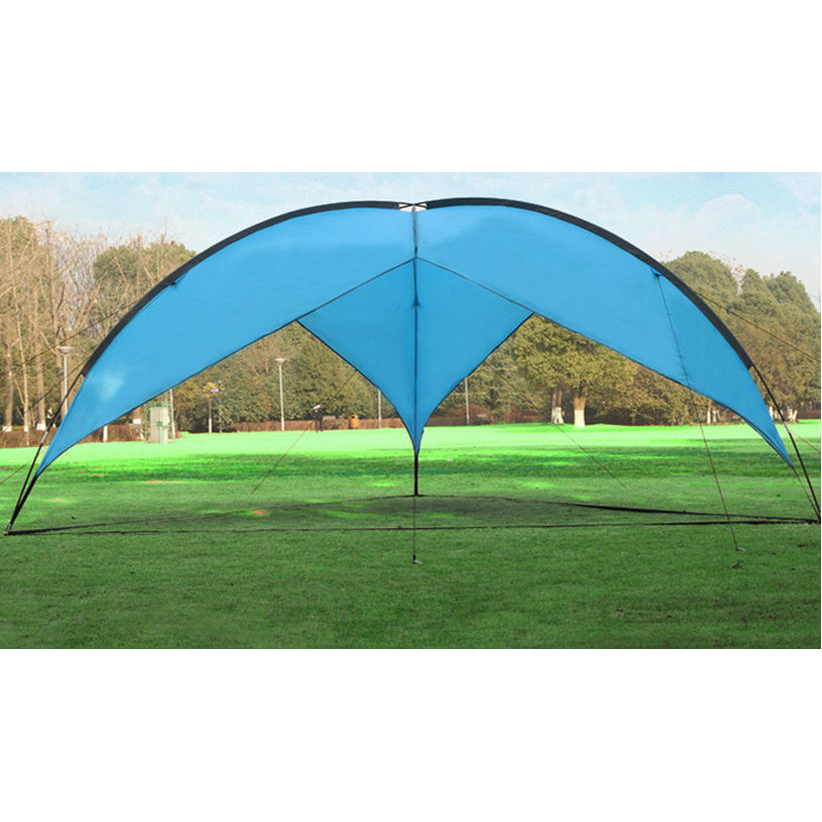 Outdoor Camping gazebos fishing canopy auto tents car awning barbecue sunshade Sandy beach tent 4.80*4.80*4.80*2m Sun Shelter otomatik çadır
