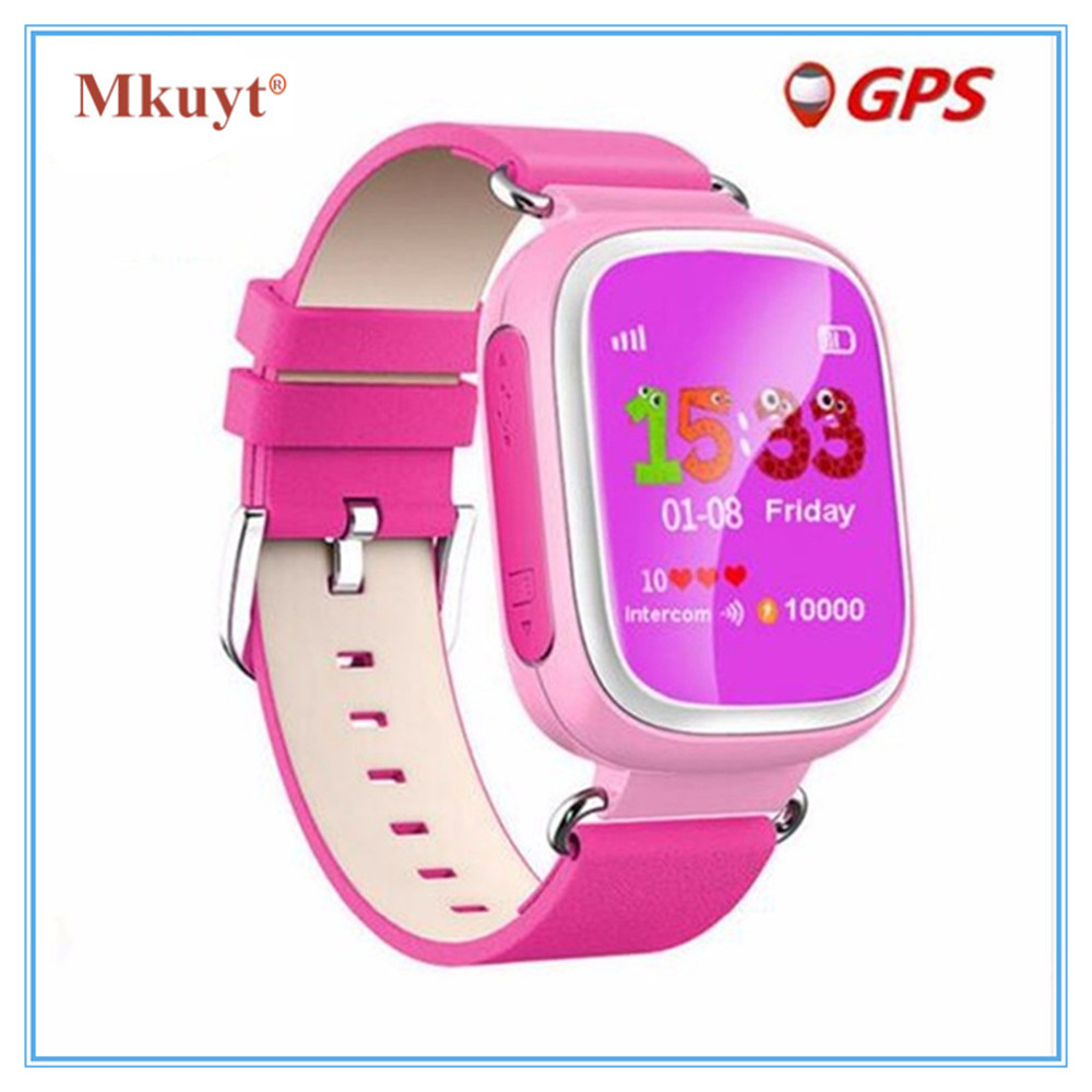 MKUYT Q80 Children Kids GPS Smart Watch with SIM Card Slot SOS Tracker Kids Safety Anti Lost baby Wristwatch pk Q50 Q60