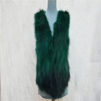 Autumn and winter women's fur raccoon hair short vest suede fashion vest