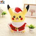 30 cm de la Felpa de Navidad Vestido de Juguete Pikachu Pokemon Muñeca de Peluche de Cumpleaños Regalo de Navidad Tienda de Hogar Deco Triver Juguete