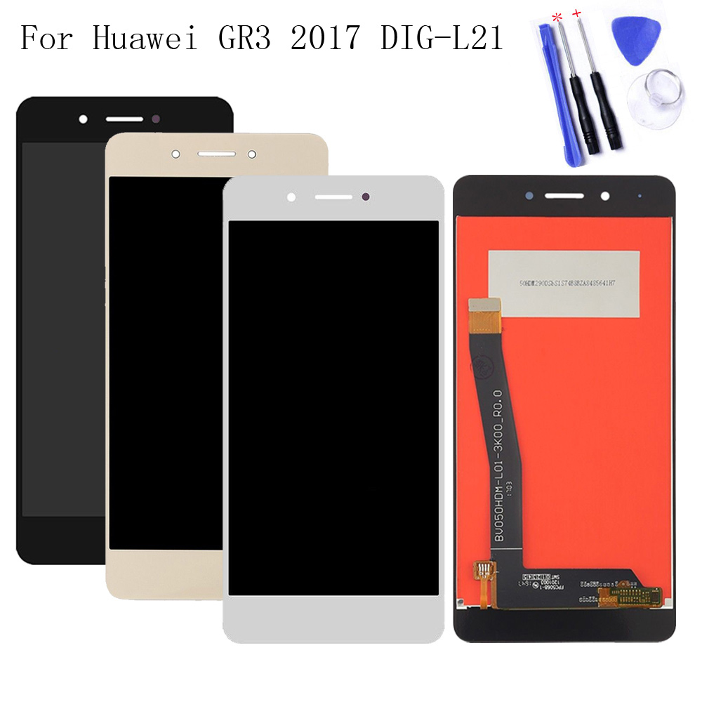 5.0 inch For Huawei GR3 2017 ( Diego) DIG-L21 LCD Display + Touch Screen Digitizer Assembly Tested +Tools5.0 inch For Huawei GR3 2017 ( Diego) DIG-L21 LCD Display + Touch Screen Digitizer Assembly Tested +Tools