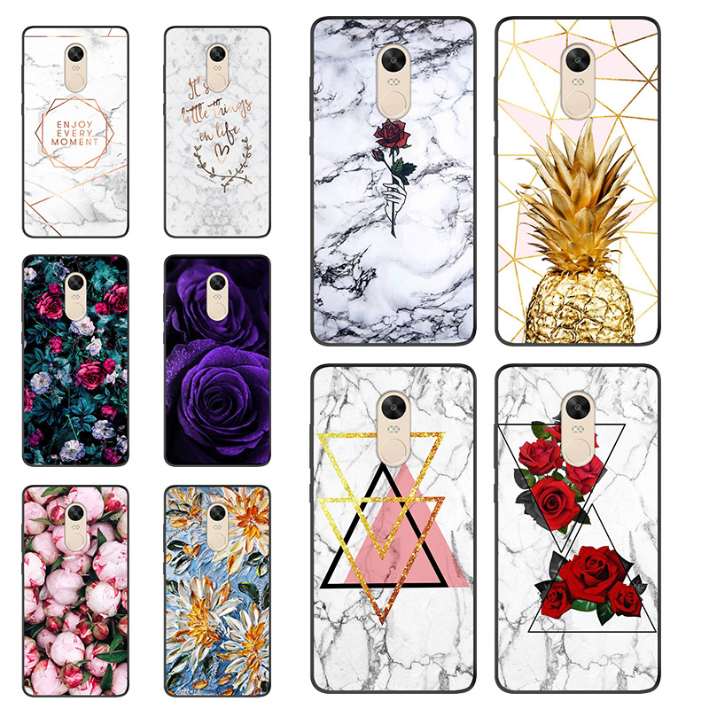 Marble Phone <font><b>Case</b></font> For Xiaomi <font><b>Redmi</b></font> <font><b>Note</b></font> <font><b>4X</b></font> <font><b>Case</b></font> 3G+32G Black Soft TPU Cover For <font><b>xiomi</b></font> Xiaomi <font><b>Redmi</b></font> <font><b>Note</b></font> 4 <font><b>Case</b></font> Global Version image