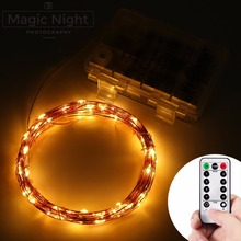 Magicnight 60 LEDs Battery Powered LED String Lights with Remote Control Waterproof Flash Light for Christmas