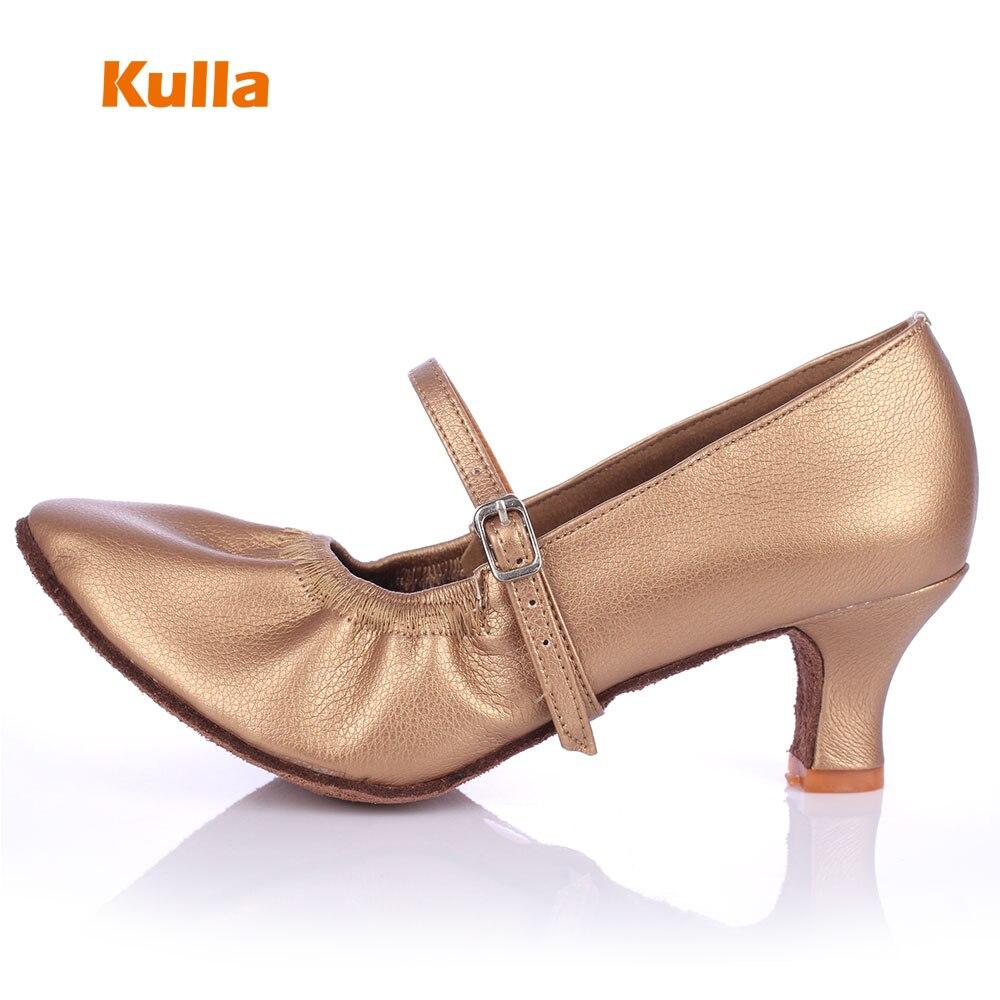 KULLA Zapatos de baile latino modernos para mujer Zapatos de baile de salsa de tango Zapatos de baile de salón de confort para mujer Sapatos Femininos Ee Salto