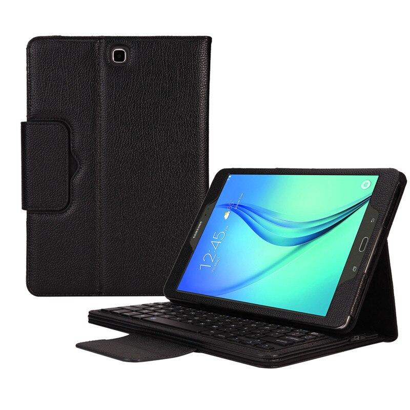 Prix pour Tab S2 9.7 Sans Fil Clavier Cas Pour Samsung Galaxy Tab S2 9.7 ''T810 T815 Bluetooth Clavier En Cuir Cas + Protecteurs