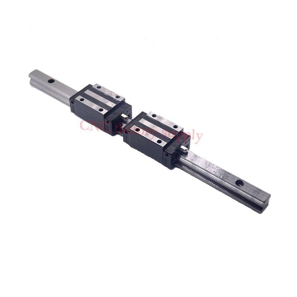 NEW 1pc linear guide rail HGR15-L-1000mm + 2pcs  HGH15CA linear block carriage CNC parts 100% new original 25mm precision linear guide rail 1pcs trh25 l 200mm 1pcs trh25b square linear block for cnc