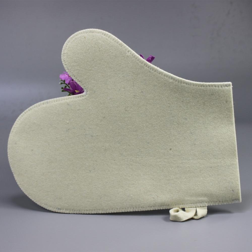 Mejor precio de fieltro de lana productos de baño sauna sets (sombrero y guantes