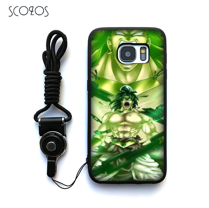 Scozos Dragon Ball Z Broly Silicone Case Cover For Samsung Galaxy S6 S7 S7 Edge S8 S8 Plus J3 J5 J7 A3 A5 A7 2016 Note 8 &ww93 Cellphones & Telecommunications Phone Bags & Cases