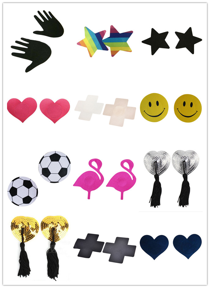 NEW 1Pair Women Sexy Nipple Covers Heart/Star/Animal Shape Nipple Stickers Pasties Chest Stickers Multi Style Wholesale