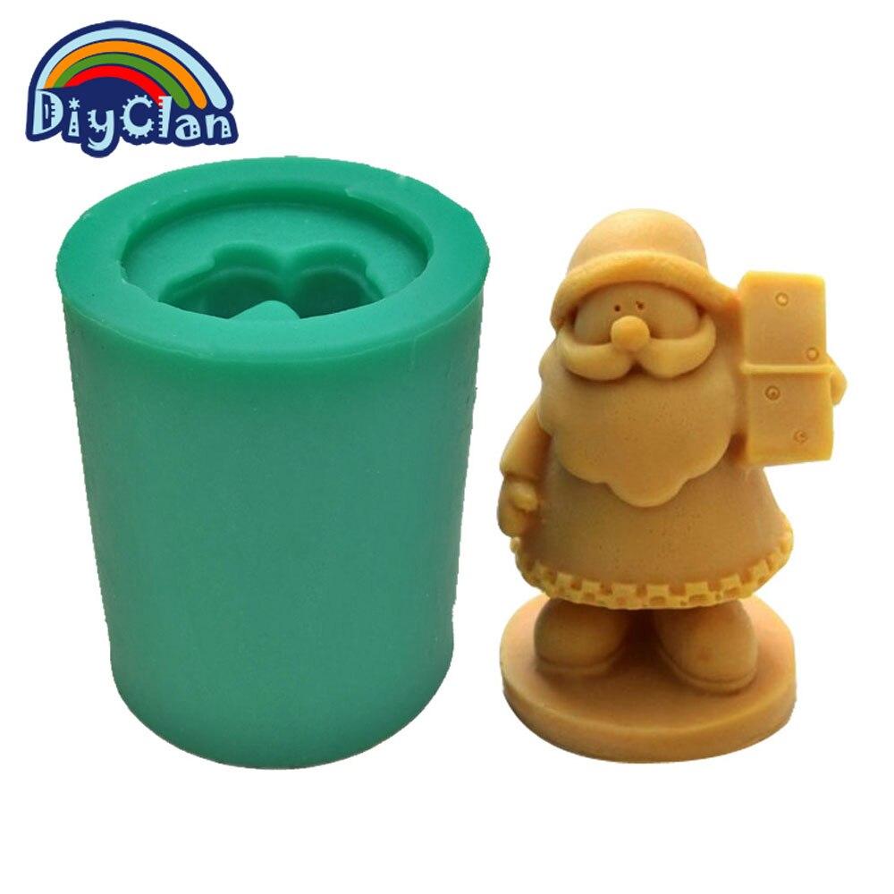 Santa Claus soap mold DIY silicone cake mold 3D Father Christmas ...
