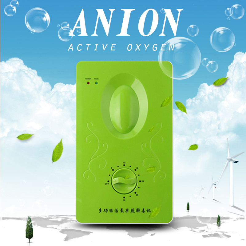 Multifunctional Household Active Oxygen Anion Ozone Generator Air Purifier Negative Ions Fruit Vegetable Meat Kitchen Usage