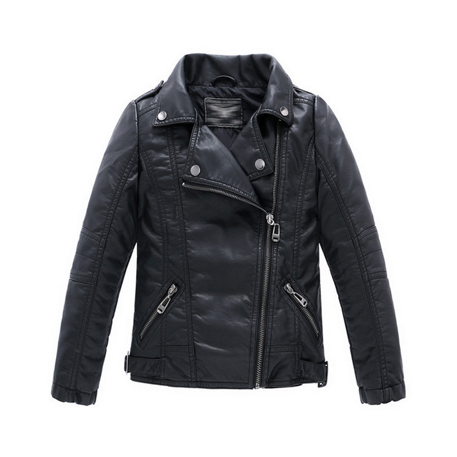 Boys Kids leather jacket Sobretudo infantil casacos Kids Infant leather jacket PU Jaqueta de couro infantil Infant overcoat ...