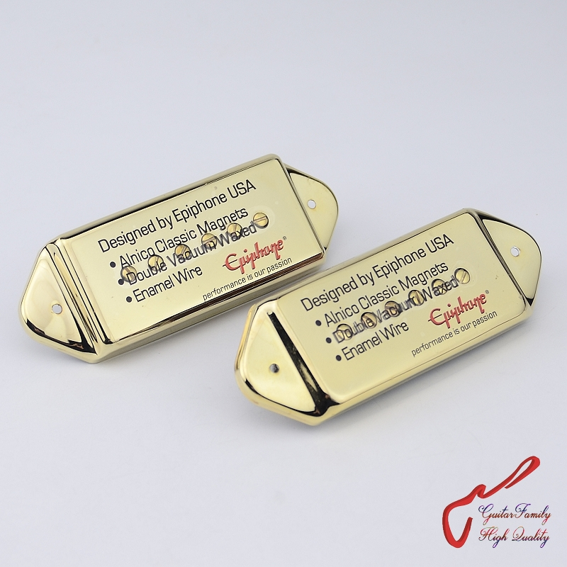 1 Set GuitarFamily  Alnico Pickup For Casino Jazz Guitar  Gold   MADE IN KOREA 1 set guitarfamily alnico pickup for casino jazz guitar nickel cover made in korea