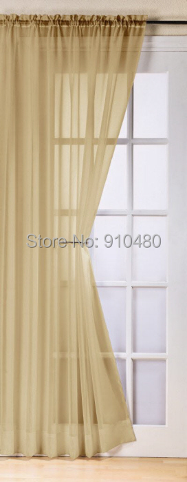 Aliexpress.com : Buy Free shipping ! Slot Top Voile Curtain Panel ...