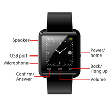 Keyou U8 smart watch sleep monitor, remote camera for Android & iOS smartphone