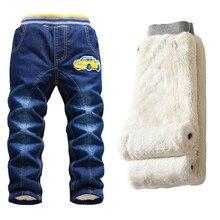 3dc79dc03 Hot sale Baby Boy Jeans Pants Winter 2017 Children Washed Denim Jeans Boys  Cartoon Long Trousers
