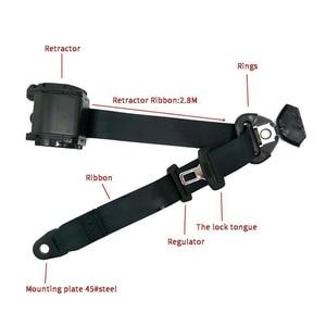 Image 5 - Universal Adjustable 3 Points 3Point Retractable Safety Seat Belt Seatbelt Mount Car Accessories Parts