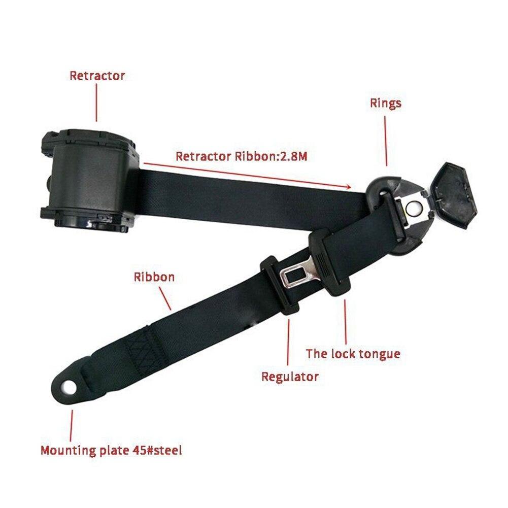 Voiture Auto réglable 3 points rétractable ceinture de sécurité support de ceinture de sécurité universel - 5
