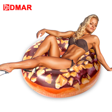 DMAR 103cm Inflatable Donut Swimming Ring Giant Pool Float Toys Circle Beach Sea Water Party Mattress Adult