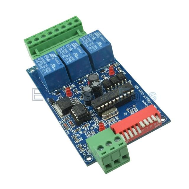 3 Channel 5A DMX512 Controlled Relay Switch DIY Kits Converter DMX